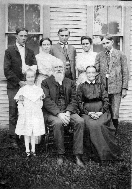 Richard and Catherine Lewis pose with their family