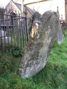 The graveyard at Llanwynno churchyard