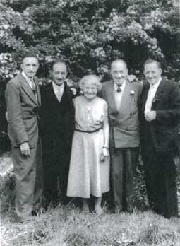 May 1960 and four of the Thomas Boys pose with their mam