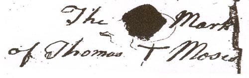 Thomas Moses leaves his mark