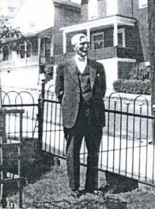 Walter Moses surveys Wilkes Barre