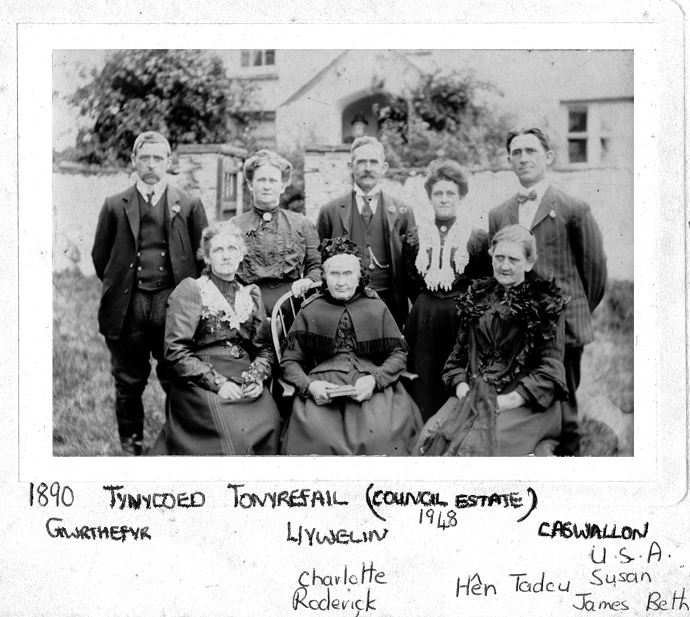 Some of the Roderick family pose for the camera at Tyn y Coed