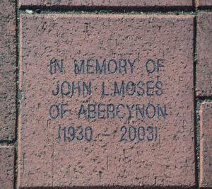 Brick in honour of John Moses